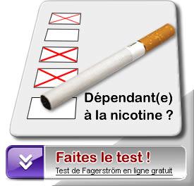 Test de Fagerström - mesure de la dépendance à la nicotine